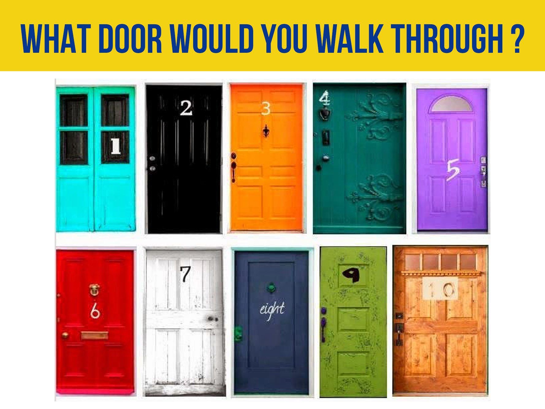 sc 1 st  AV MEDIA & WHAT DOOR WOULD YOU WALK THROUGH ?