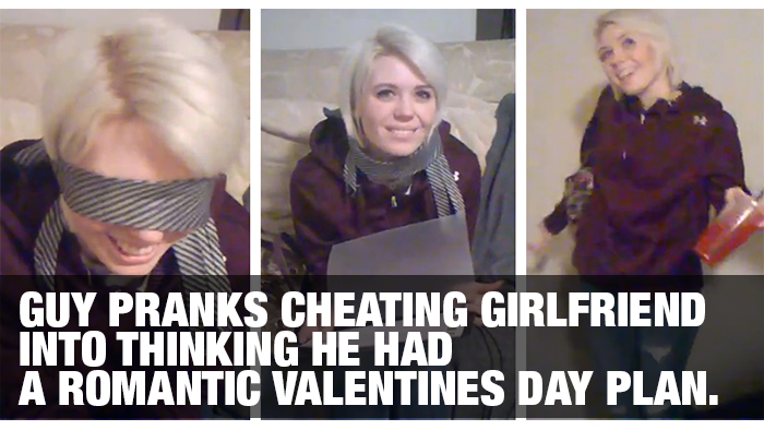 Guy Pranks Cheating Girlfriend