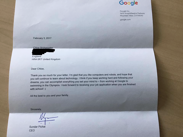 Chloe-Bridgewater-Google-Reply